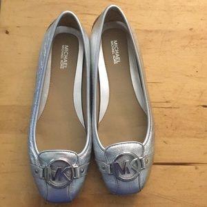 Michael Kors Silver Flats